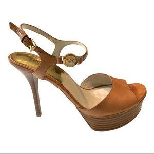 MICHAEL MICHAEL KORS Platform Sandals Brown 6.5